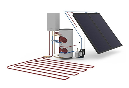 Zonneboilersysteem